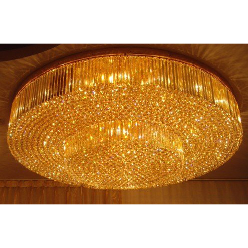 Round Crystal Ceiling Lamp for Hotel 9510004