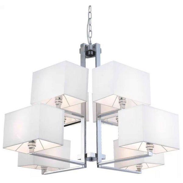 Customized Made Lighting Fabric Shade Chandelier 9505003