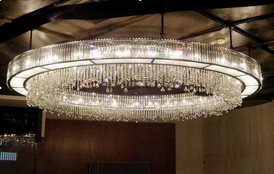Hotel lobby lighting chandelier