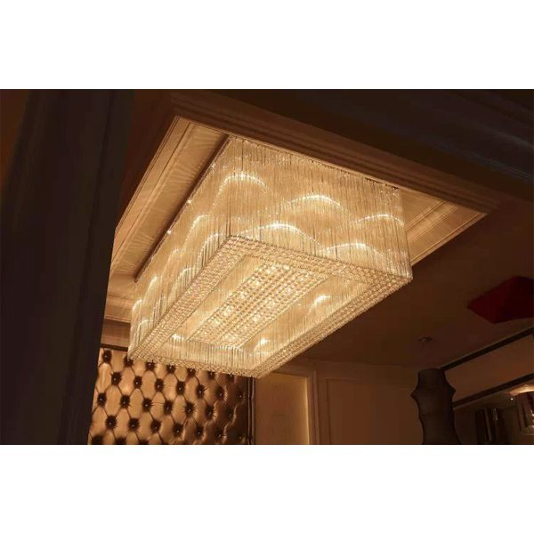 Hotel Lobby Ceiling Lamp Crystal Ceiling Lighting Fixture 9511002