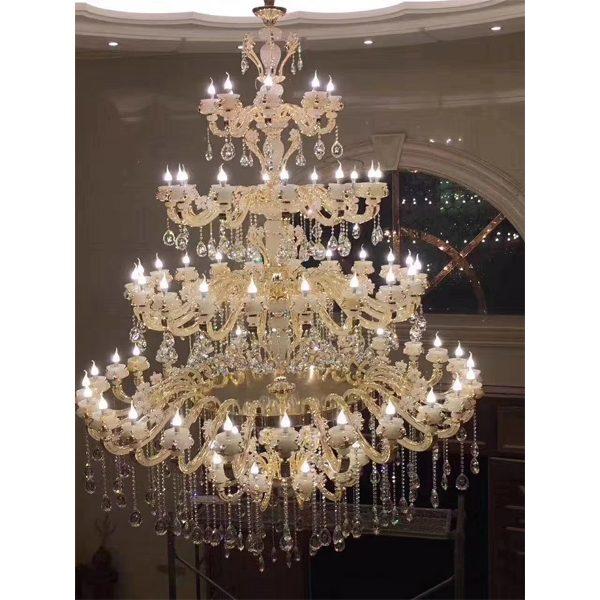 Large Glass Crystal Chandelier Lighting for Hotel 9510002
